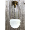 "L17184 - Antique Colonial Revival ""Brasco"" Three Rod Hanging Bowl Fixture"