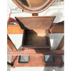 F17097 - Antique Colonial Revival Oak and Ash Hall Stand