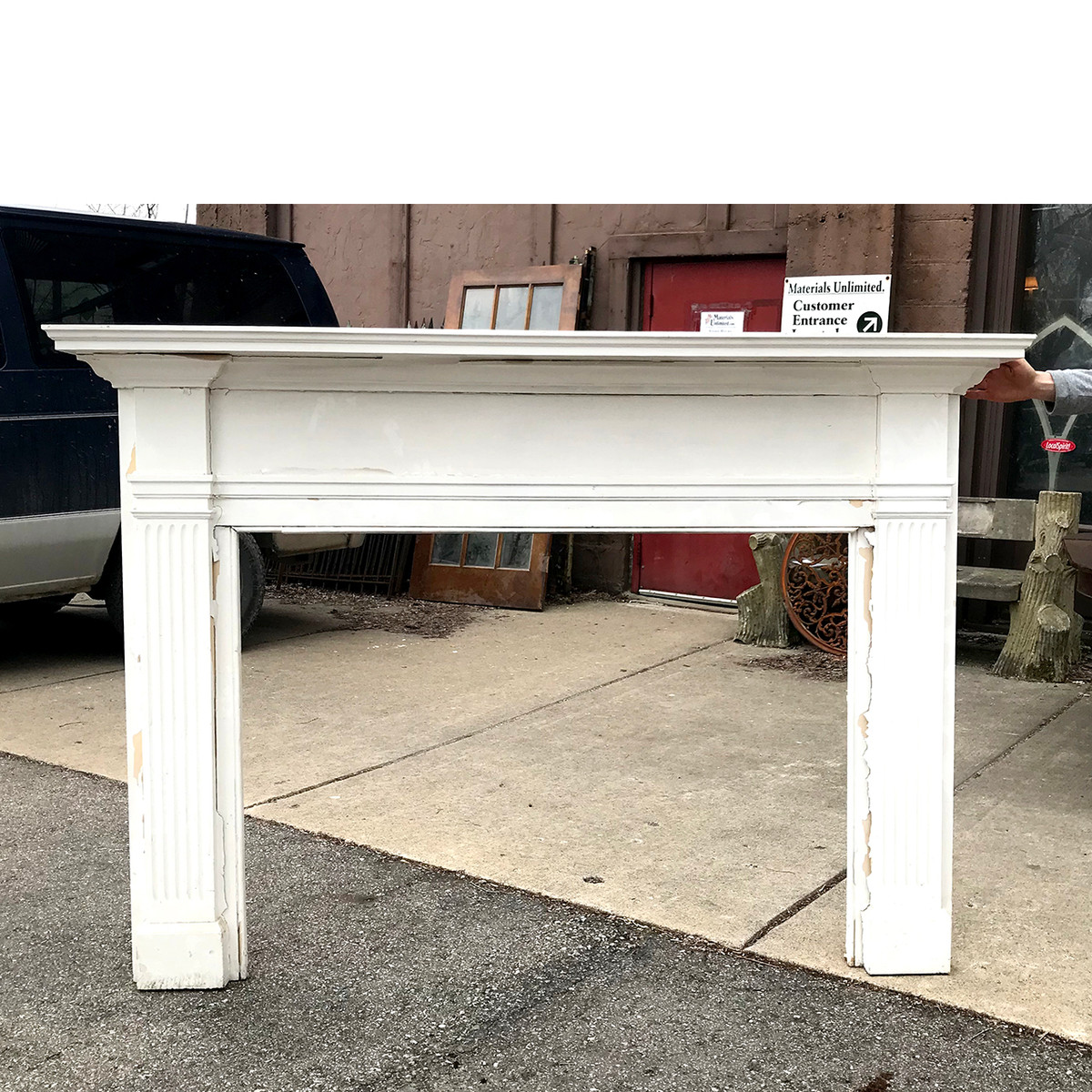 M18003 - Antique Colonial Revival Half Mantel