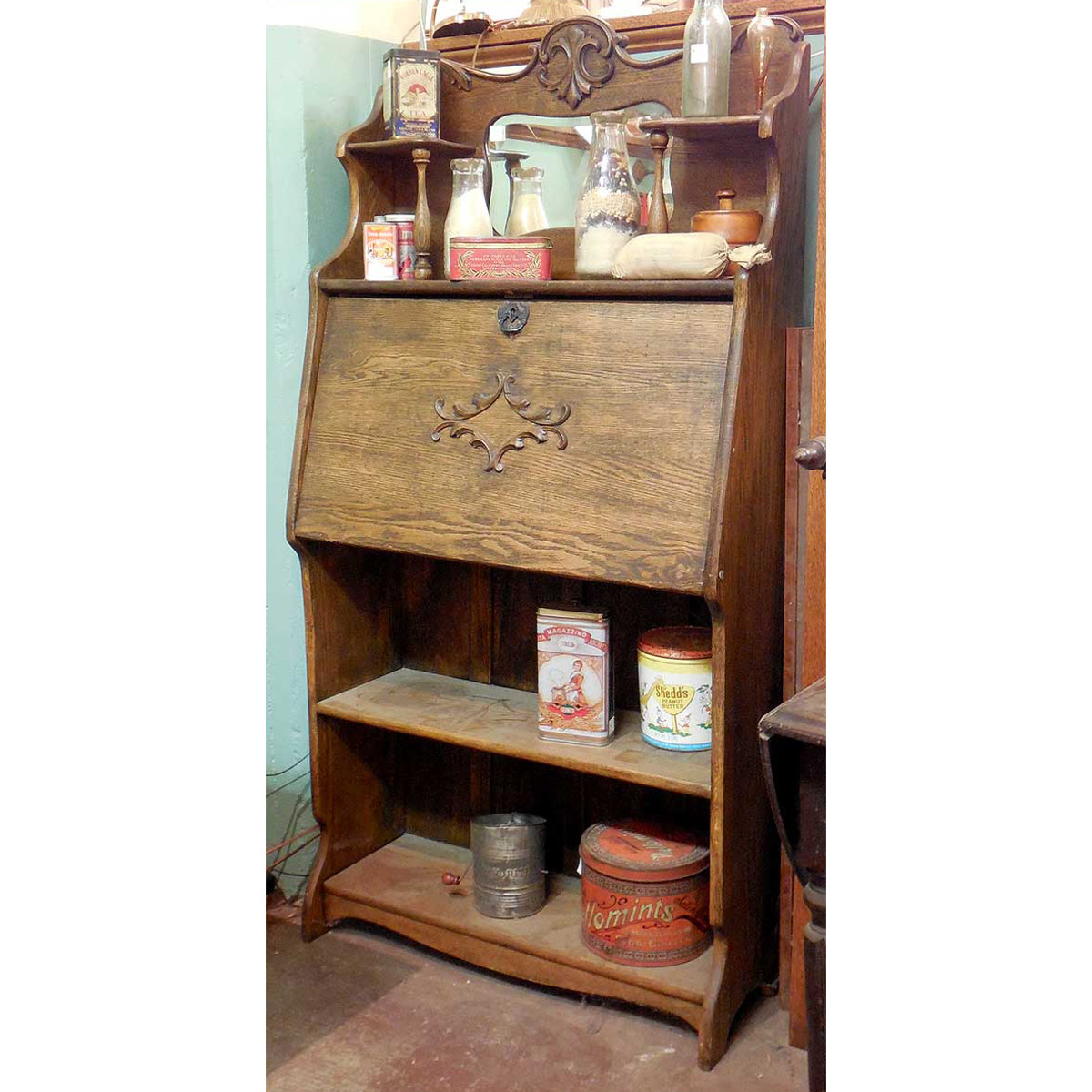 for hutch well traditional as refinished hand vintage secretary with antique desk