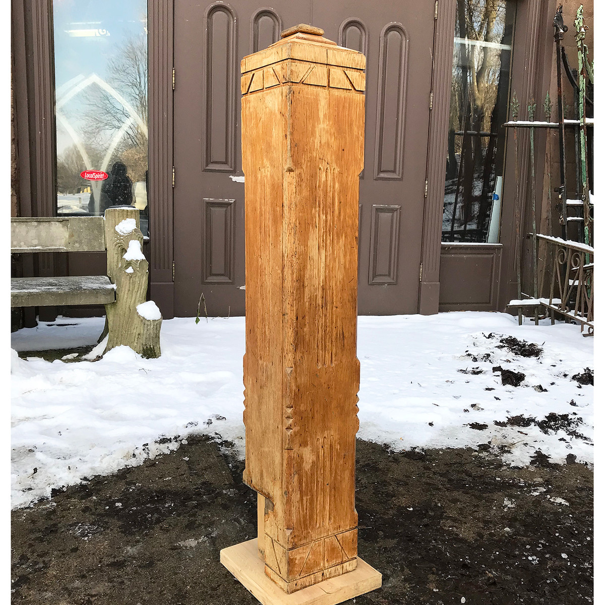 S11050 - Antique Oak Newel Post