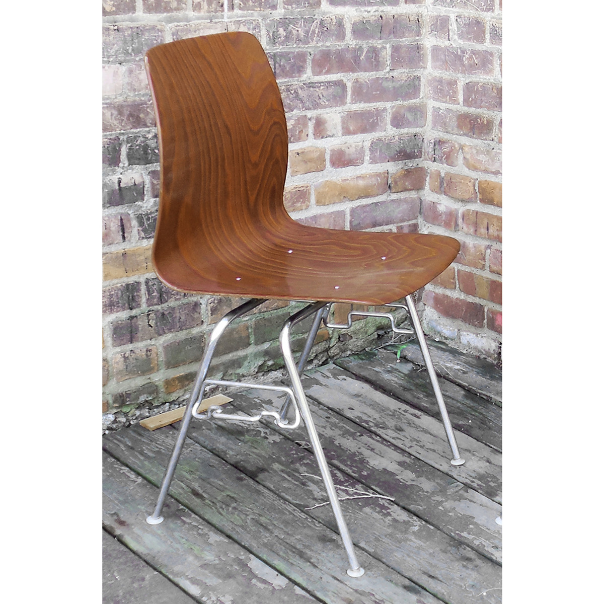 F14053 - Vintage Mid Century Modern Bent Plywood Chair