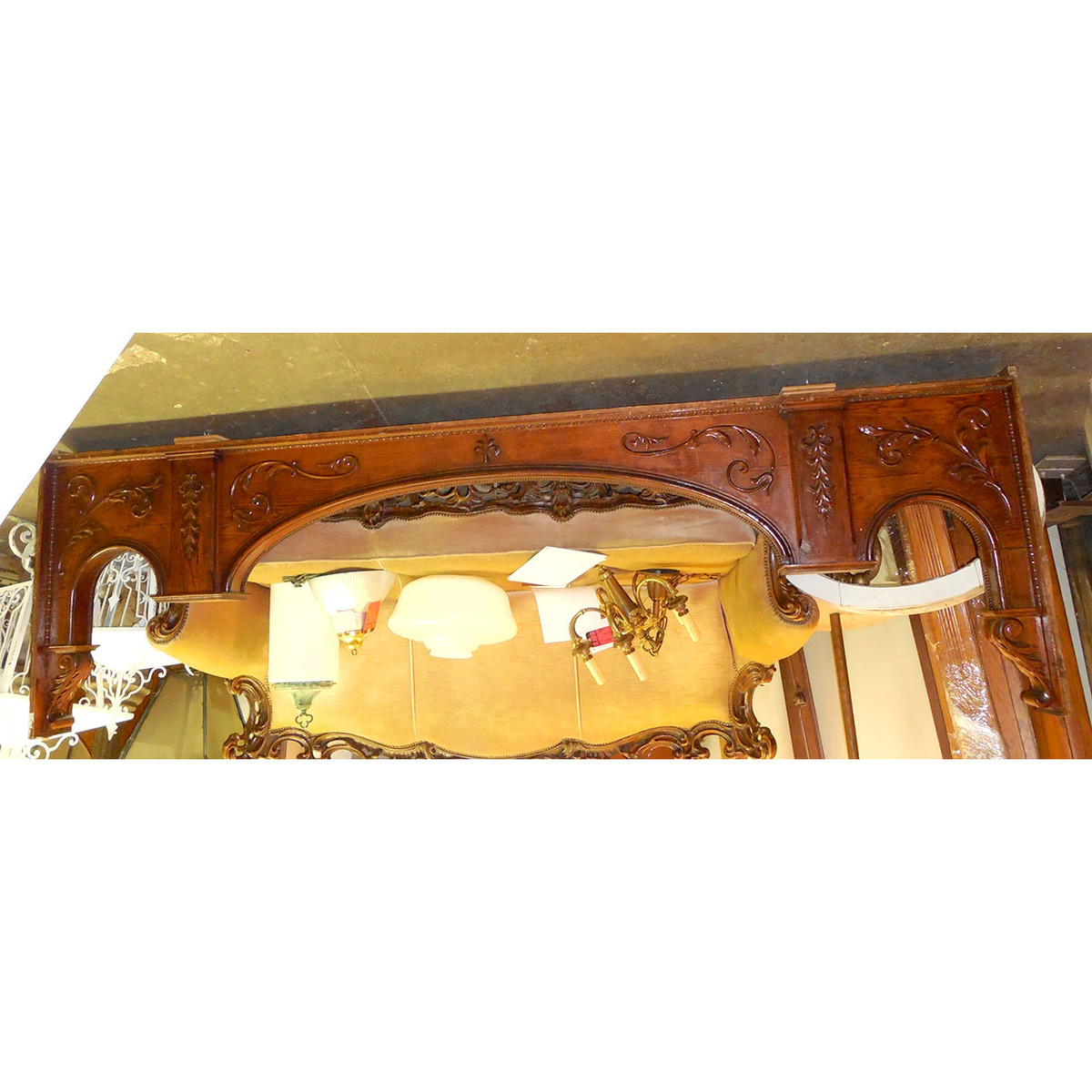 S14036 - Antique Late Victorian Oak Arched Casing
