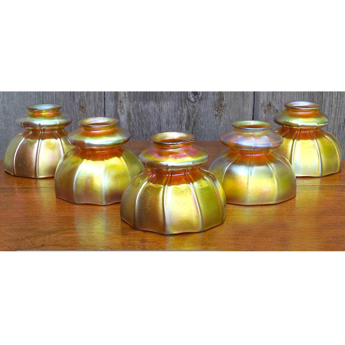 L14258 - Set of Five Steuben Art Glass Shades