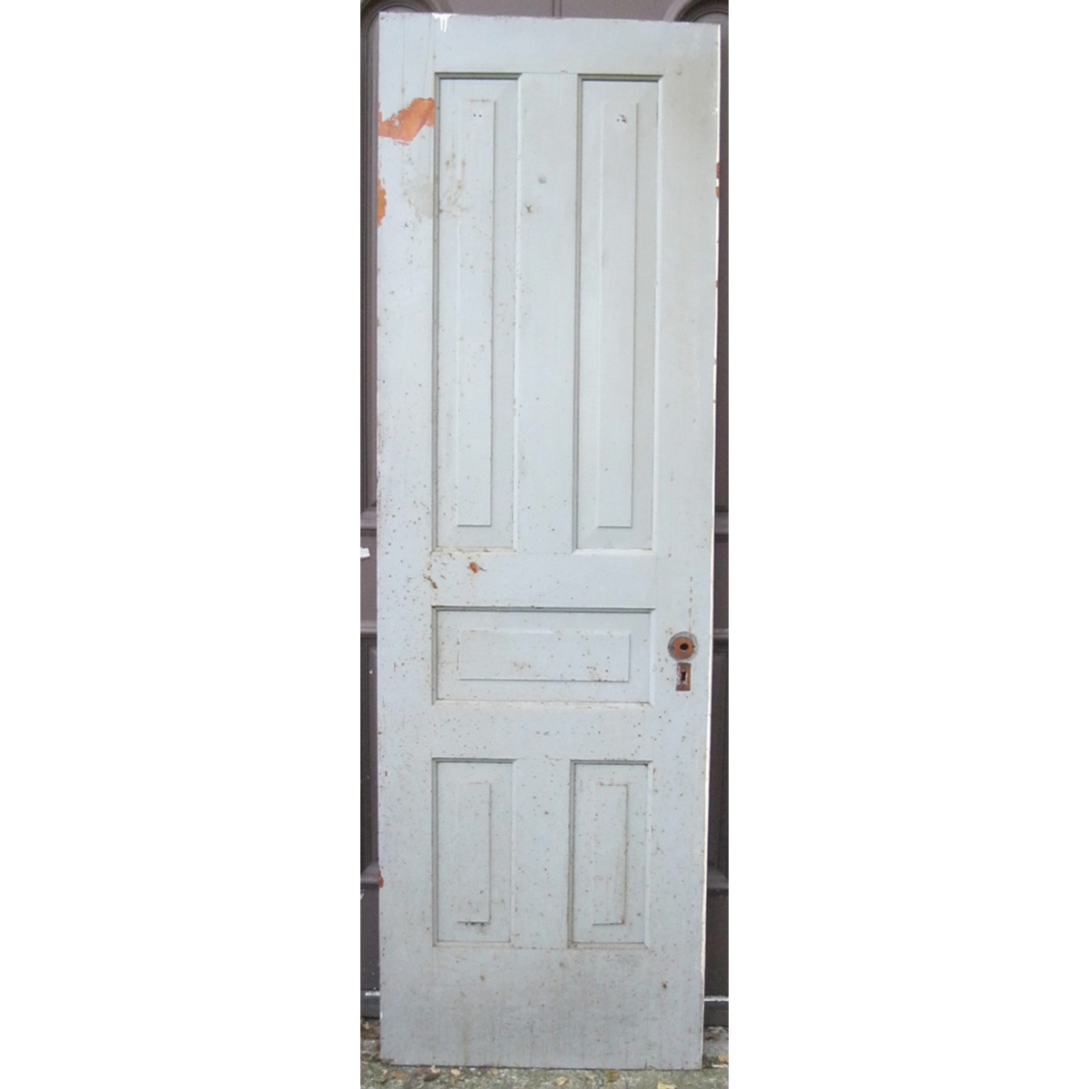 D16120 Single Antique Pine Five Traditional Panel Interior Door 25