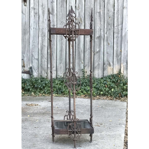 A17077 - Custom Cast Iron & Stone Plant Stand