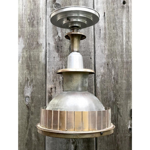 L17225 - Antique Art Deco Industrial Pendant Fixture