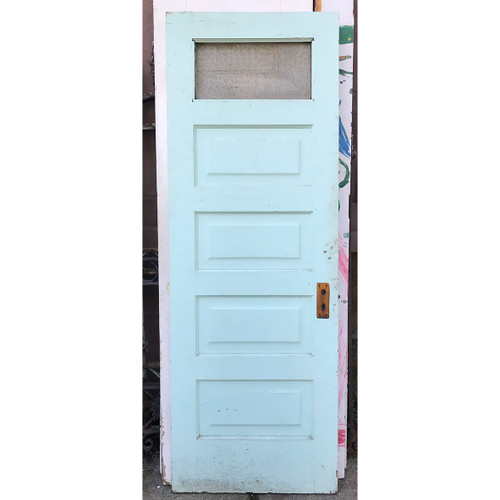 "D17157 - Antique Pine Interior Five Panel Door 27-1/2"" x 77-3/4"""