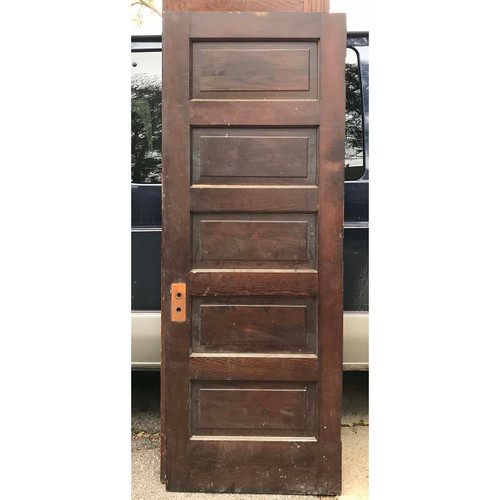 "D17166 - Antique Interior Five Panel Door 30"" x 79-1/2"""
