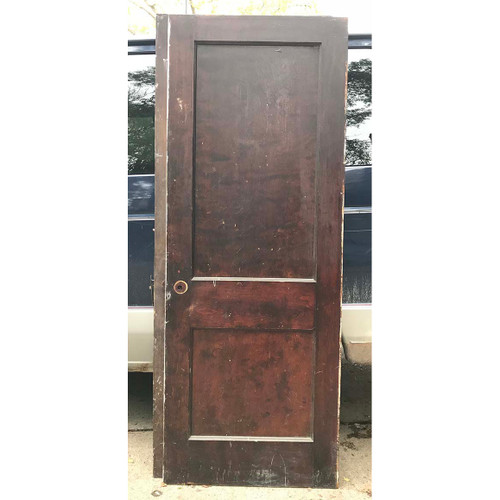"D17169 - Antique Interior Two Panel Door 30"" x 79"""