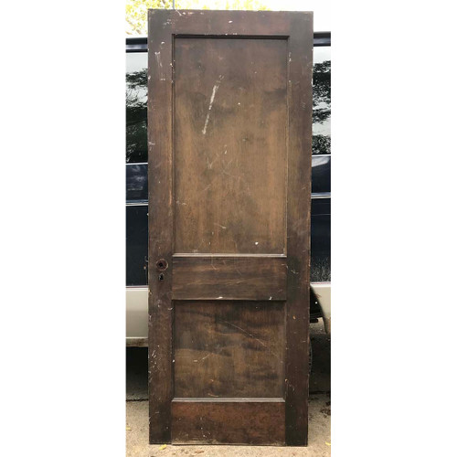 "D17170 - Antique Interior Two Panel Door 30"" x 79-3/4"""
