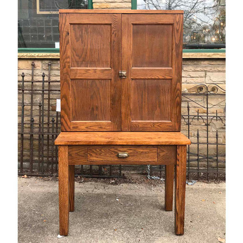 F17126 - Antique Oak Postal Sorting Cabinet