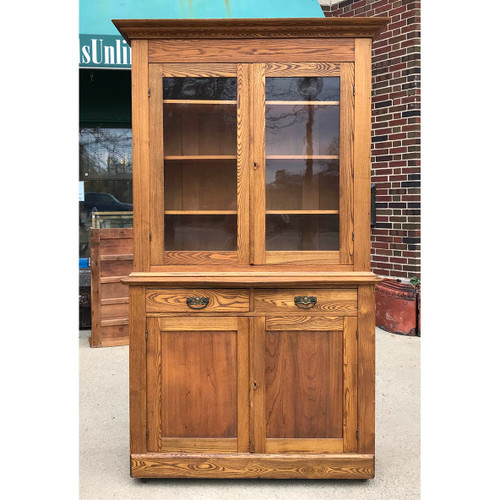 F17128 - Antique Victorian Ash Wood Cupboard