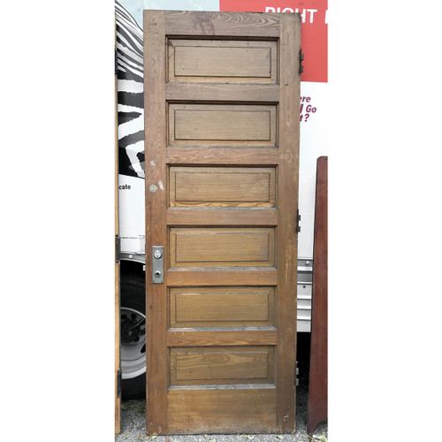 "D17180 - Antique Ash Six Panel Door 30"" x 83"""
