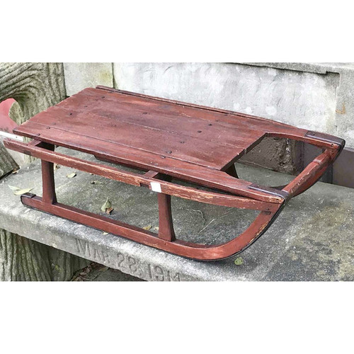 A17117 - Antique Victorian Era Painted Pine Child's Sled