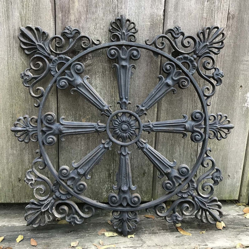 S17066 - Antique Colonial Revival Cast Iron Decorative Panel