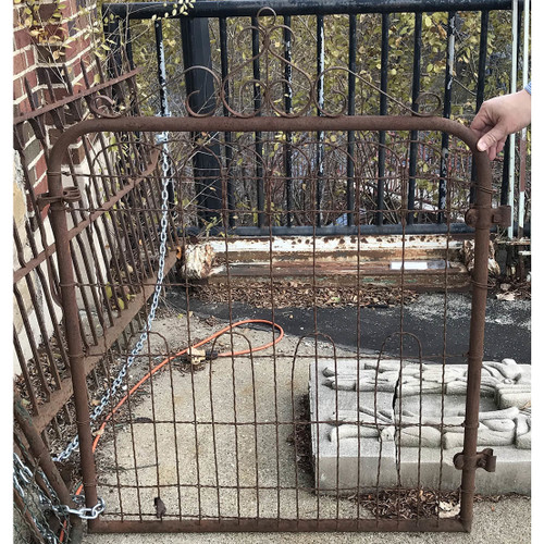 A17120 - Antique Revival Period Tubular and Woven Wire Gate