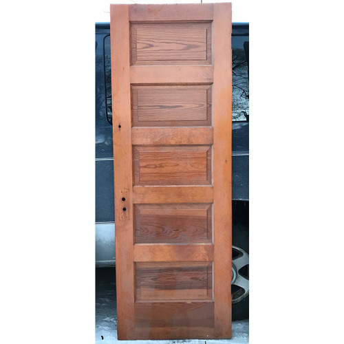 "D17188 - Antique Pine Interior Five Horizontal Panel Door 28"" x 80"""