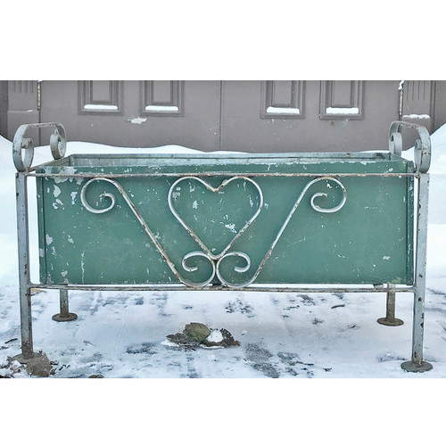 A17128 - Antique Revival Period Wrought Iron Planter