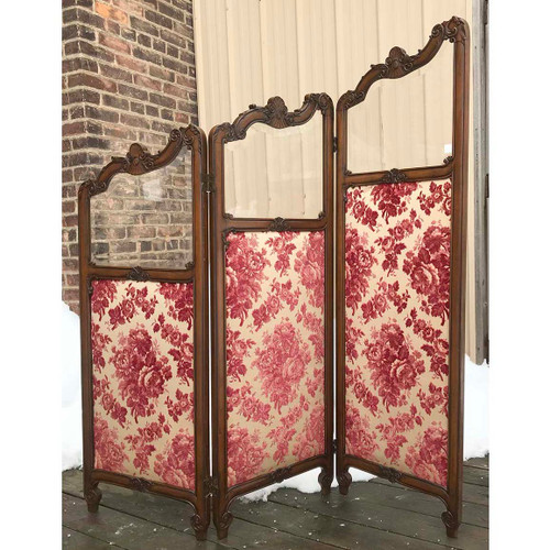 F17143 - Antique French Revival Period Folding Partition
