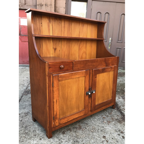 F17148   Antique Victorian Era Country Style Dry Sink Cabinet