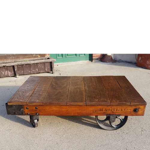 F17150 - Antique Industrial Cast Iron Cart