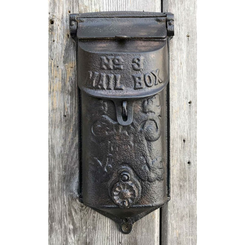 H17017 - Antique Revival Period Cast Iron Mailbox