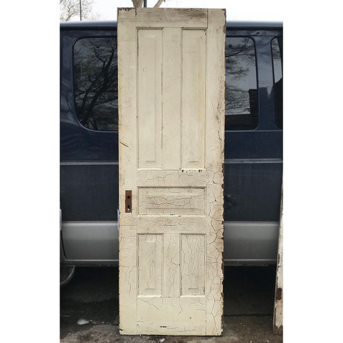 "D18003 - Antique Pine Interior Five Traditional Panel Door 25-3/4"" x 79-1/2"""