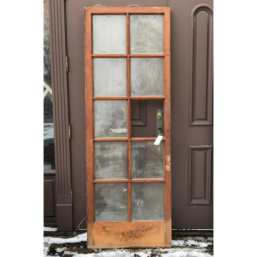 "D18004 - Antique Pine Interior/Exterior French Door 31-3/4"" x 79-1/2"""
