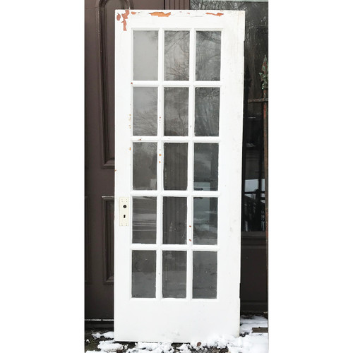 "D18005 - Antique Pine Interior French Door 30-1/2"" x 79-1/4"""