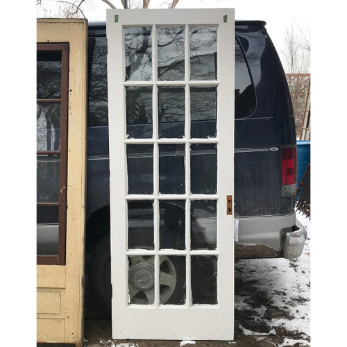 "D18012 - Antique Pine Interior French Door 30"" x 80"""