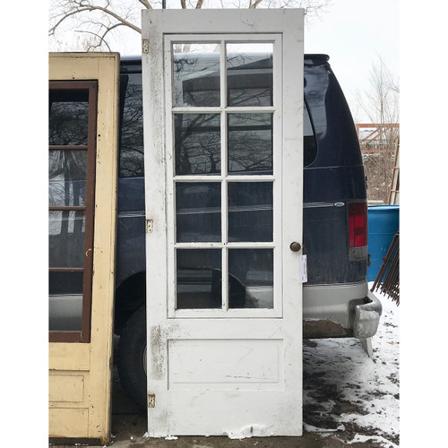 "D18009 -  Antique Pine Exterior Storm Door with Glass 32"" x 85"""