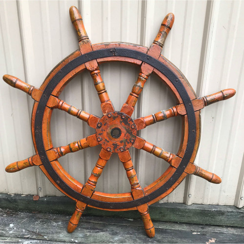 A18002 - Antique Ships Wheel