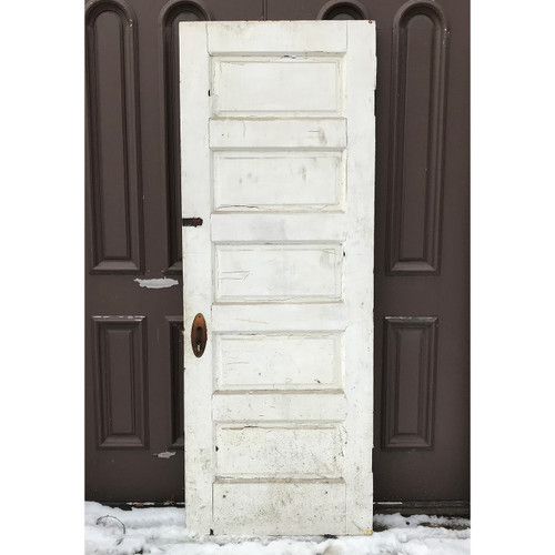 "D18020 - Antique Pine Five Horizontal Raised Panel Interior Door 30"" x 80-1/4"""