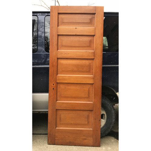 "D18026 - Antique Five Horizontal Panel Interior Door 30"" x 79-1/2"""