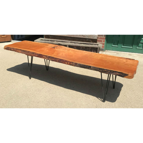 "F18034 - Custom ""Live Edge"" Cherry Coffee Table"