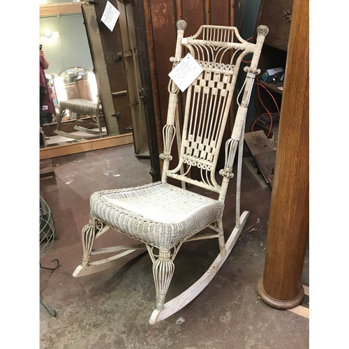 F18037 - Antique Victorian Wicker Rocking Chair