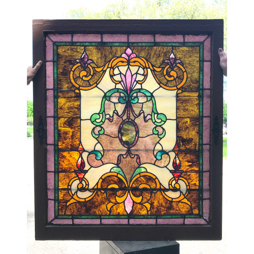 G18041 - Antique Stained Glass Window