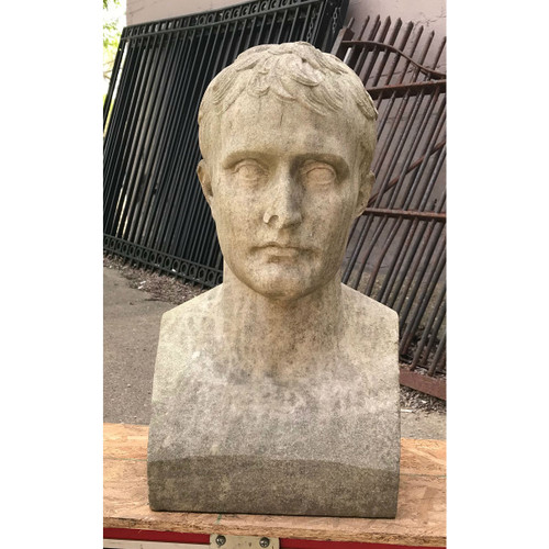 A18040 - Antique Carved Marble Bust of Caesar Augustus