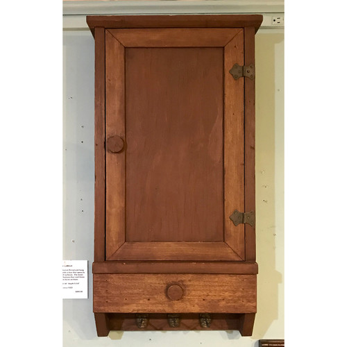 A18048 - Antique Revival Period Wall Hung Storage Cabinet