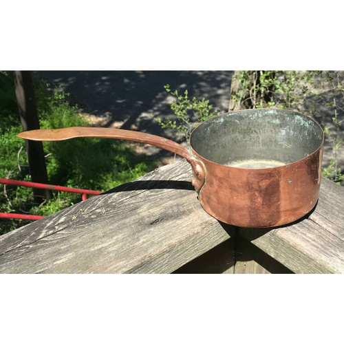 A18053 - Antique 19th Century Copper Sauce Pan