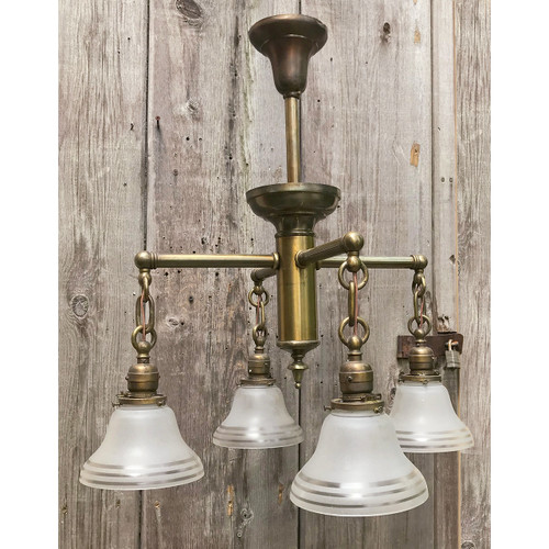 L18072 - Antique Revival Period Four Arm Hanging Fixture