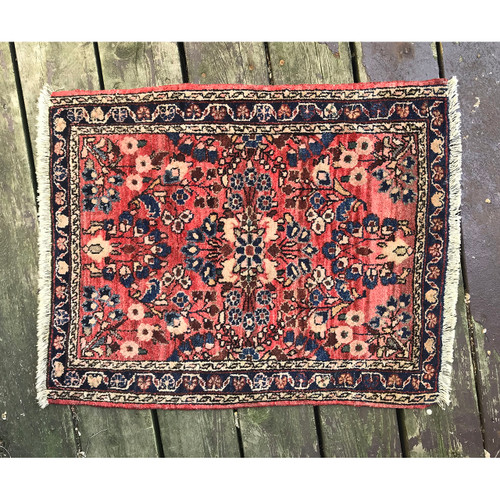 A18102 - Antique Hand Knotted Persian Mat