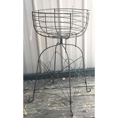 A18087 - Antique Wire Flower Basket