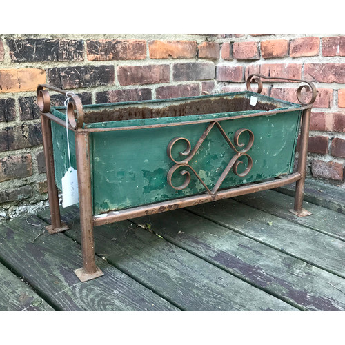 A18083 - Antique Revival Period Wrought Iron Planter
