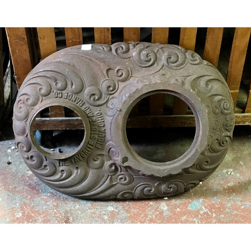 S18070 - Antique Cast Iron Wood-Stove Top
