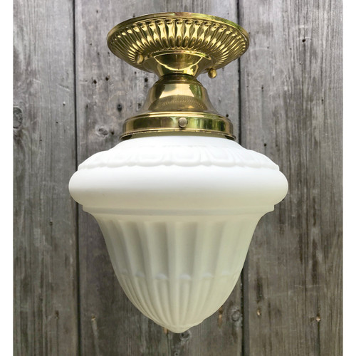 L18092 - Antique Neoclassical Style Flush Mount Fixture