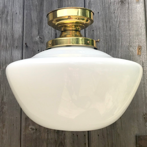 L18094 - Antique Schoolhouse Flush Mount Light Fixture