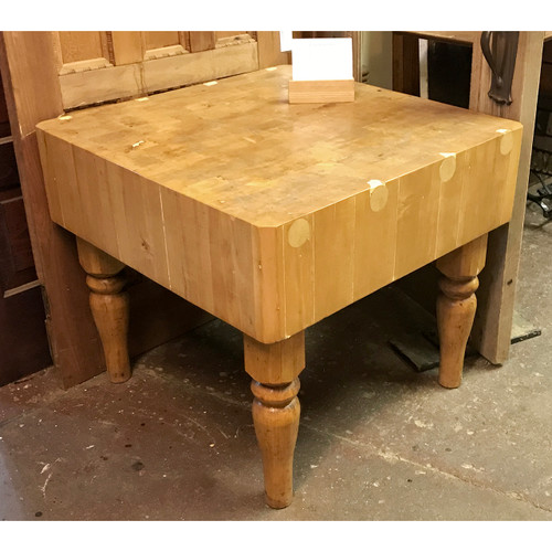 F18078 - Antique Maple Butcher Block Table