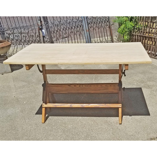 "F18081 - Vintage Industrial Style ""Hamilton"" Drafting Table"